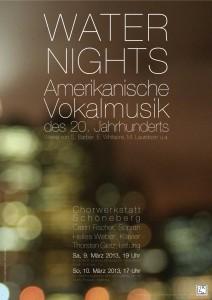 Plakat zum Konzert Waternights Amerikanische Vokalmusik